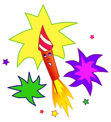 Cartoon Fireworks Clipart - Clipart Kid