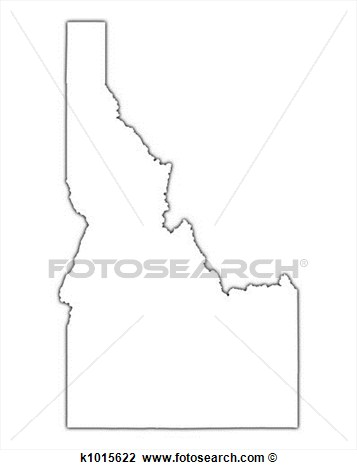 Clip Art   Idaho  Usa  Outline Map  Fotosearch   Search Clipart