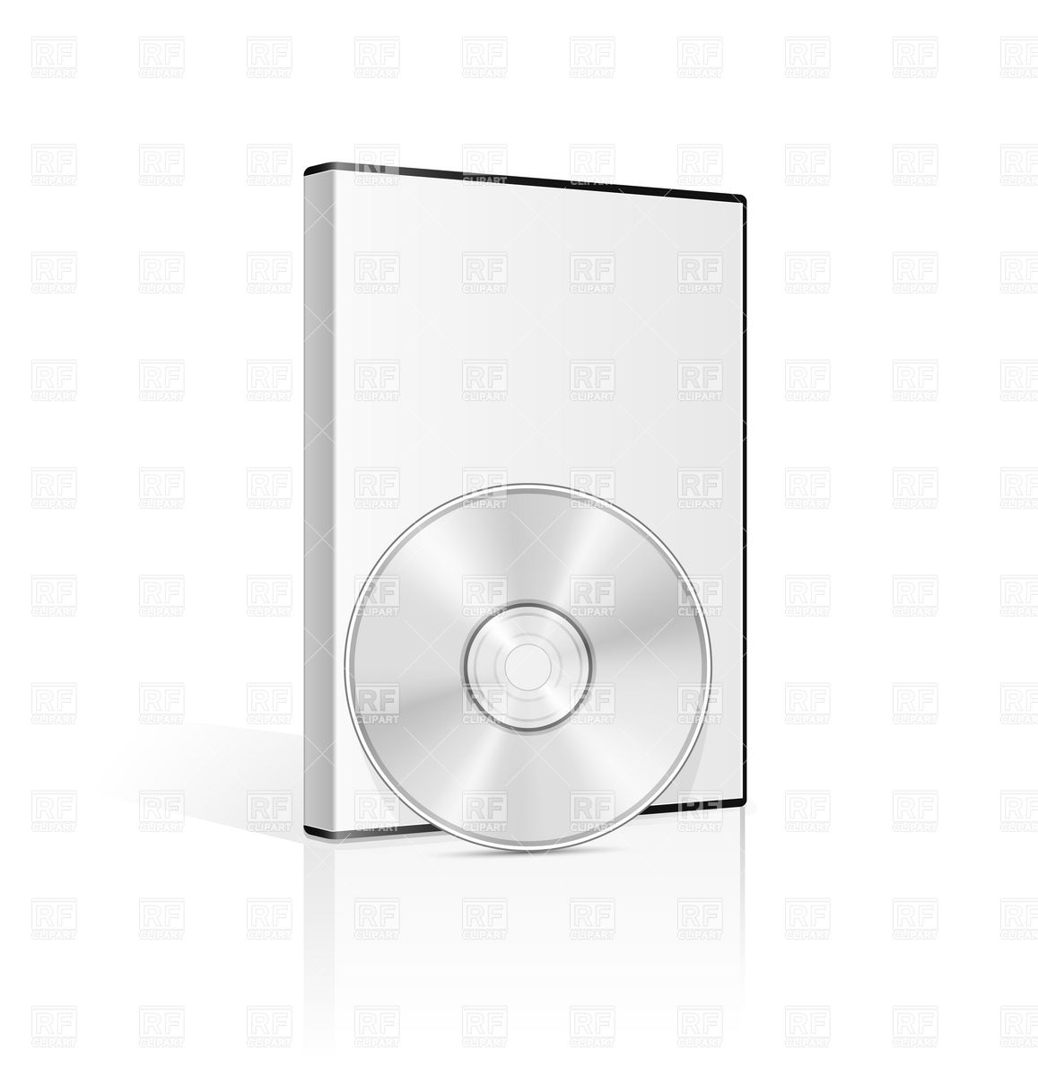 Dvd Case And Cd Disk Download Royalty Free Vector Clipart  Eps