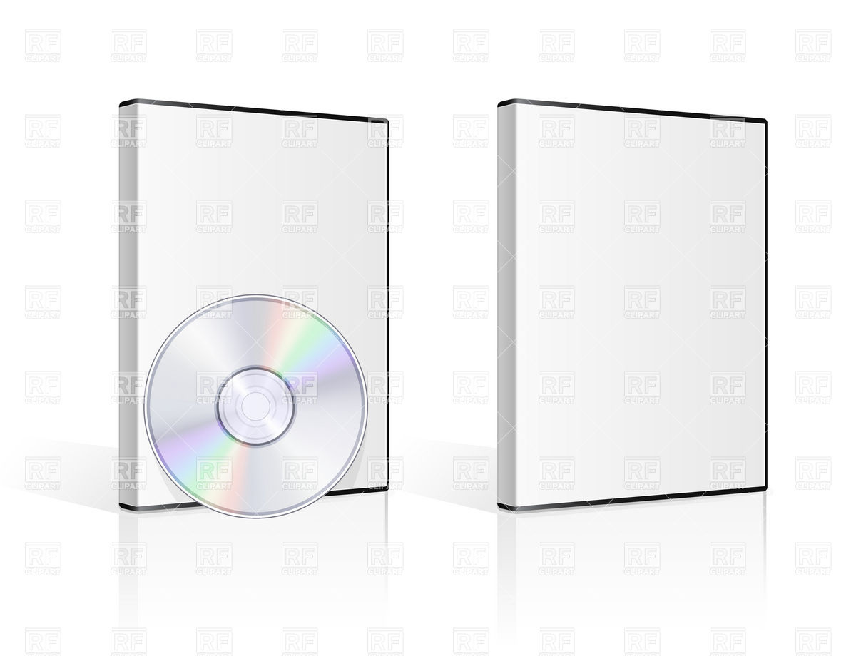 Dvd Case And Disk On White Background 5652 Objects Download Royalty