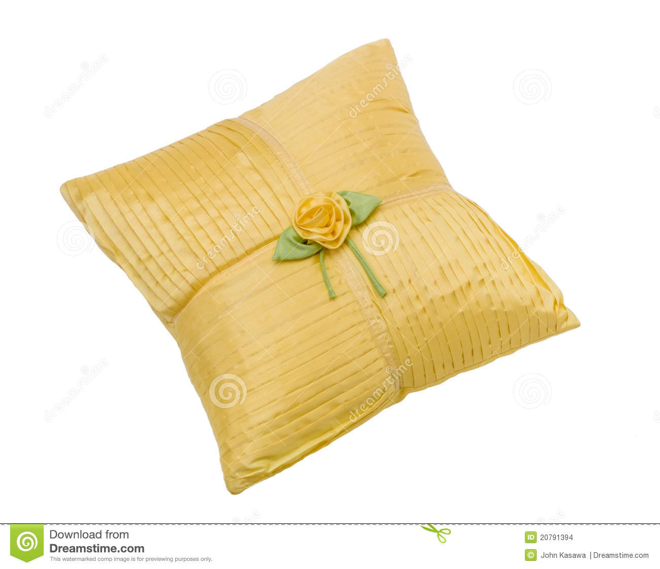 Elegance And Soft Of The Pillow Nice Design With Strips And Fabric