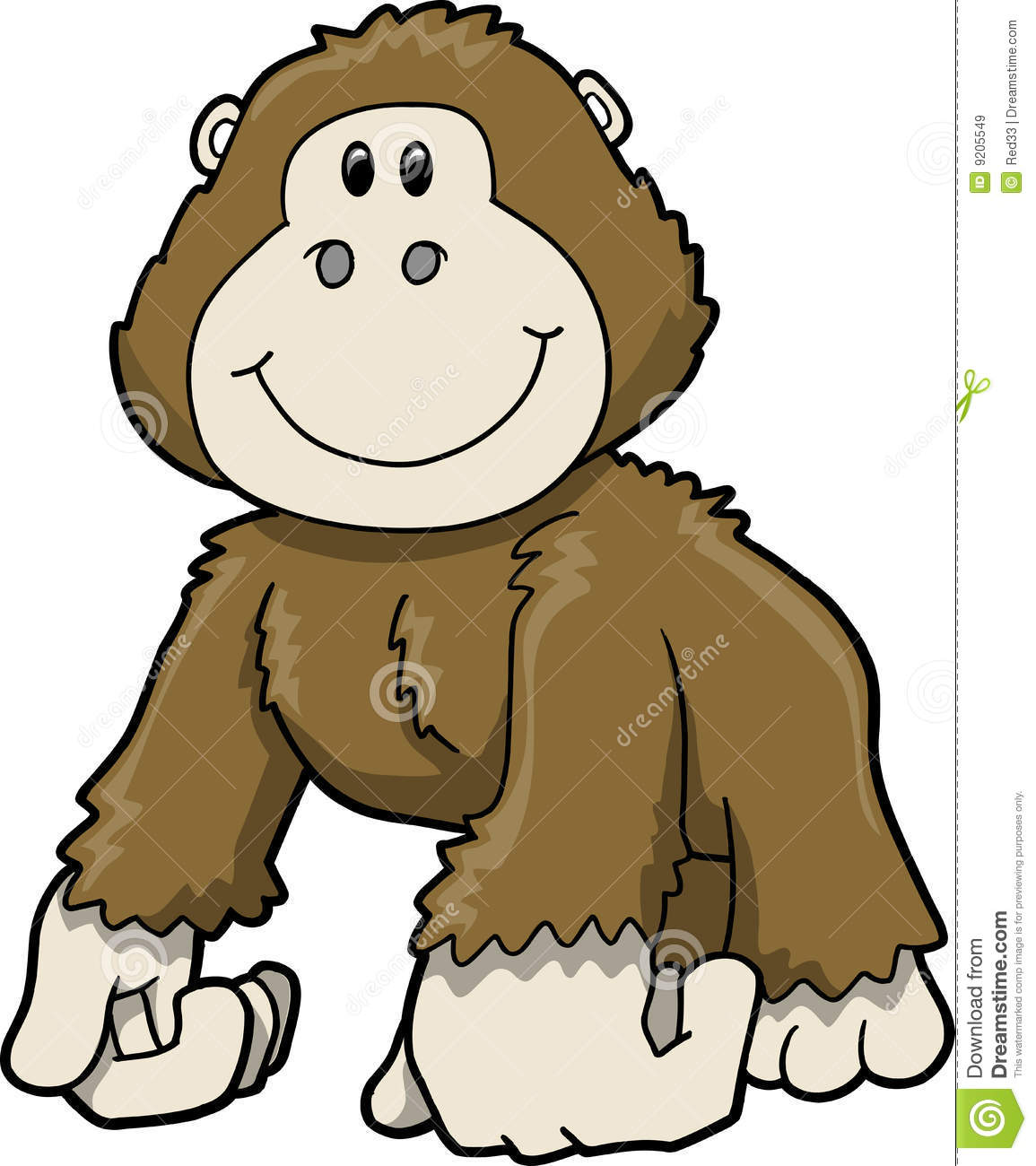 Gorilla Clipart Black And White   Clipart Panda   Free Clipart Images