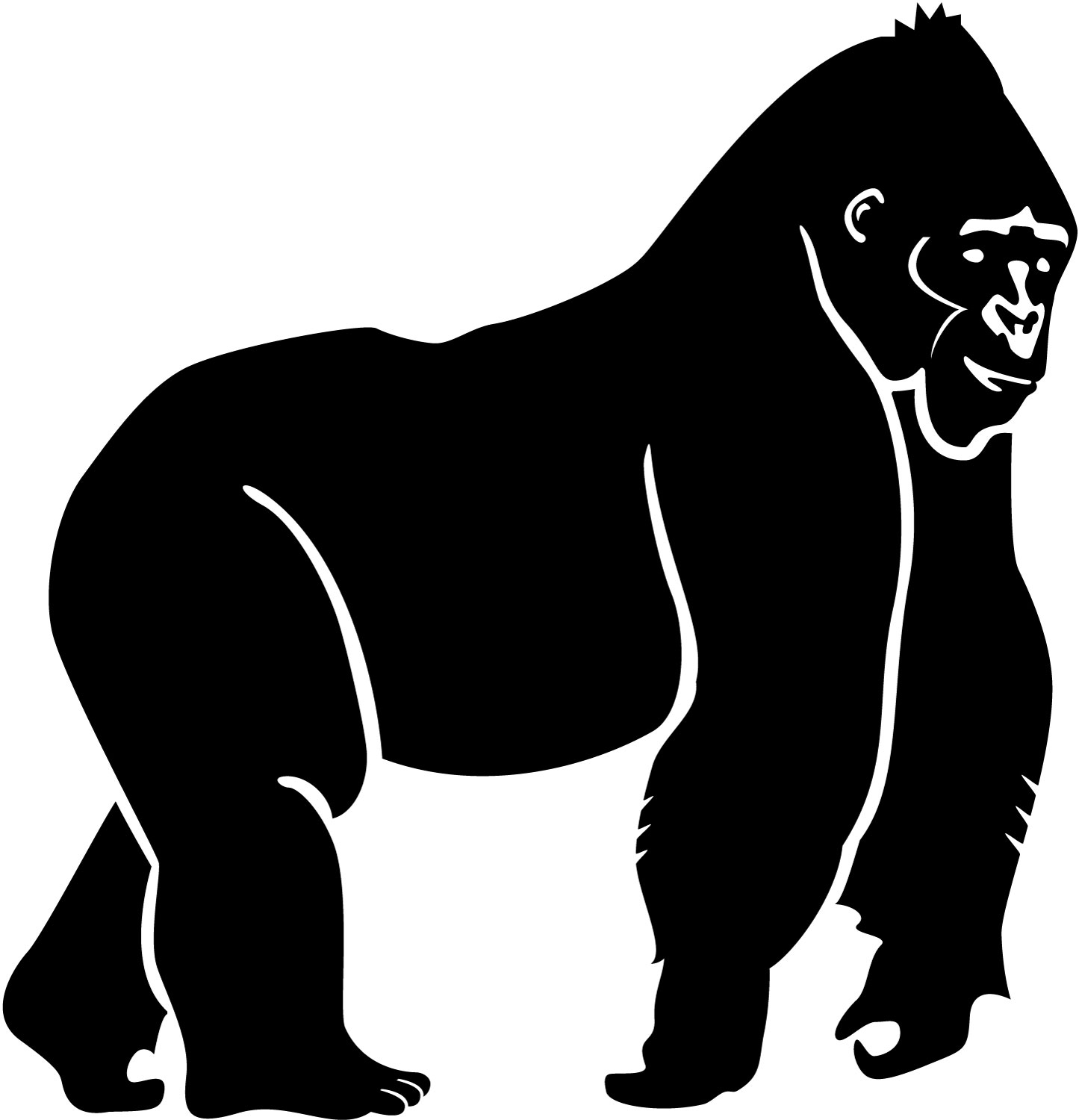 Ape Animated Clipart - Clipart Kid