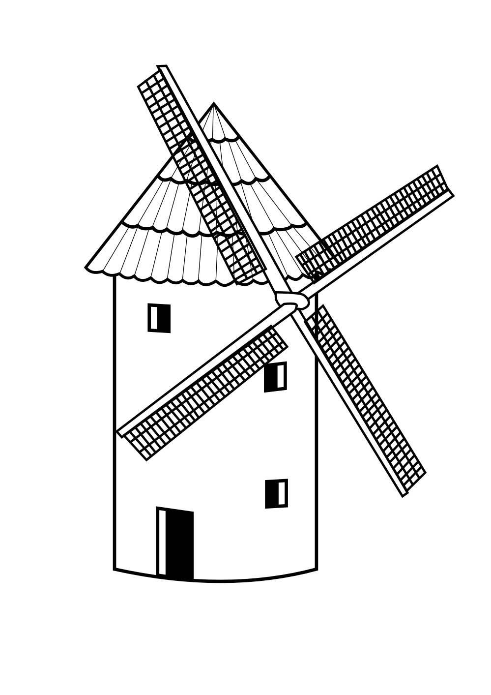 Line Drawing Windmill : Mill clipart suggest