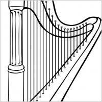 Harp Clip Art Http   All Free Download Com Free Vector Black White