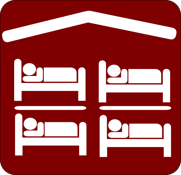 Hotel Motel Sleeping Accomodation Clip Art   Red White Clip Art At