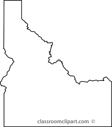 Idaho Clipart Idaho State Map Outline Jpg