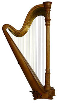 Picture Of A Harp   Clipart Best