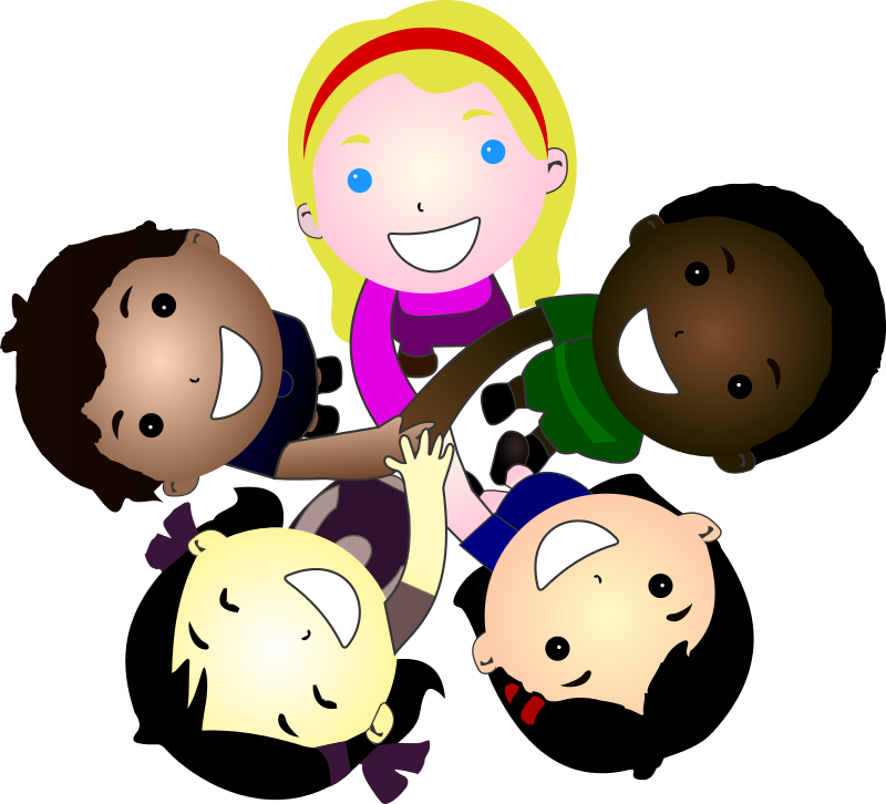 ... Of Five Kids Joining Hands Together Is Free For #YAxutW - Clipart Kid