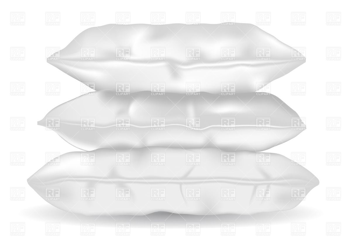 Three Soft Pillows Isolated On White Background Download Royalty Free