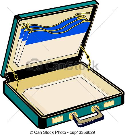 Vector Illustration Of Open Case Vector Csp13356829   Search Clipart