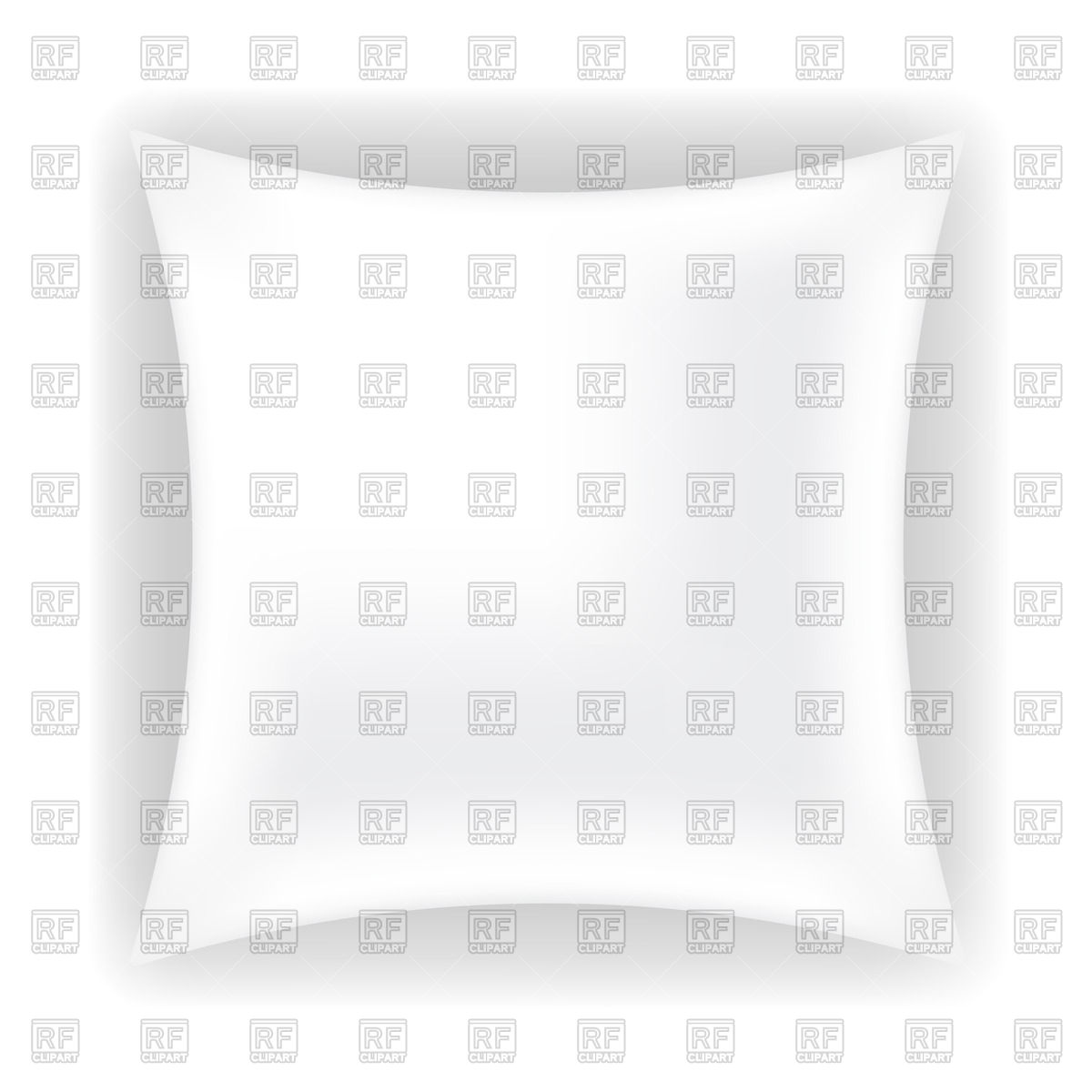 White Soft Pillow 70966 Download Royalty Free Vector Clipart  Eps