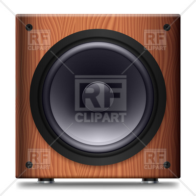 Audio Speaker In Wooden Box Download Royalty Free Vector Clipart  Eps