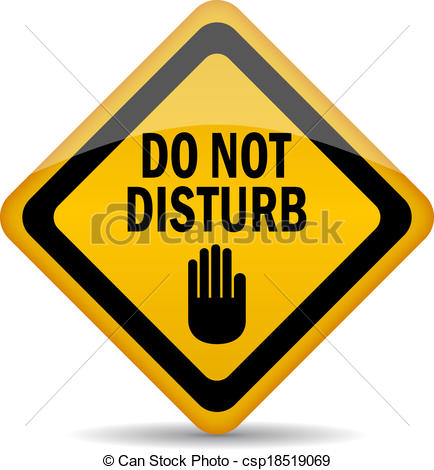 Clip Art Vector Of Do Not Disturb Vector Sign Csp18519069   Search