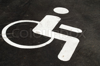Disabled Handicapped Person Circle Round Emblem Icon Set Of Four