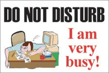 Do Not Disturb Clip Art