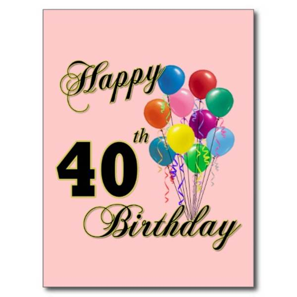 Happy 40th Birthday Clipart   Free Reference Images