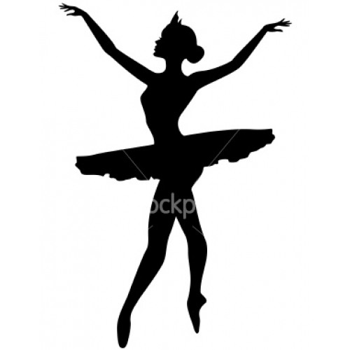 Dancer Silhouette Arabesque