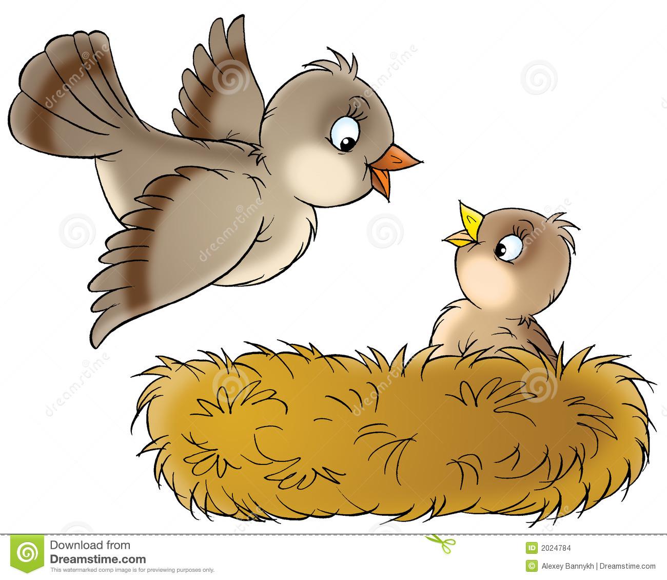 Cartoon Nest Clipart