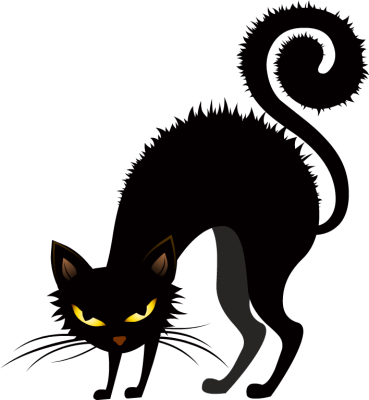 Scared Black Cat Clipart - Clipart Kid