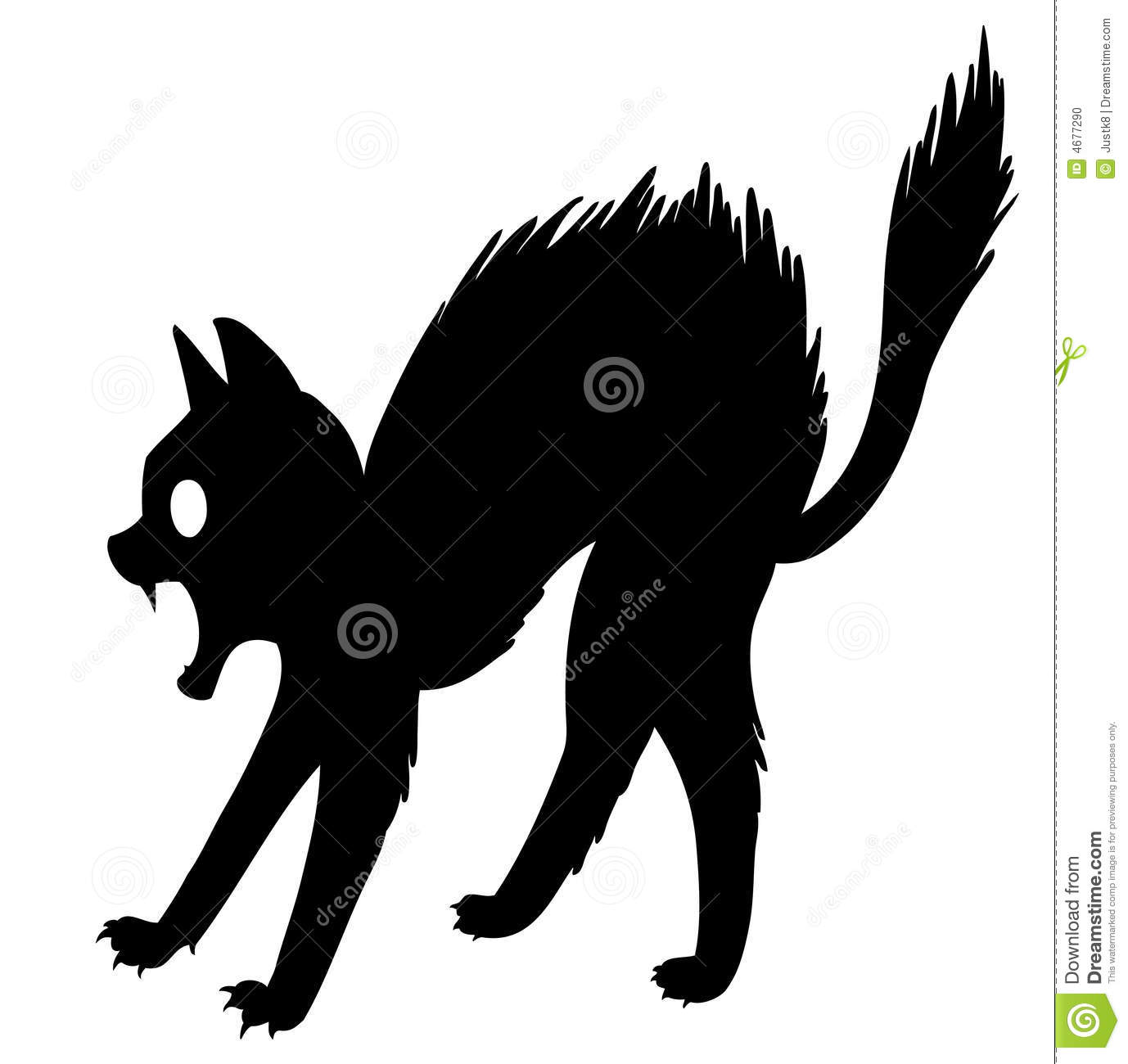 clipart scared cat - photo #29