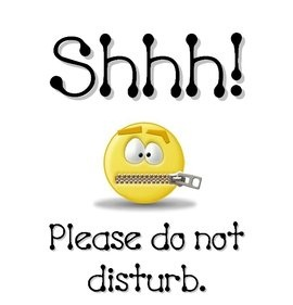 Shhh Please Do Not Disturb Emoticon Graphic