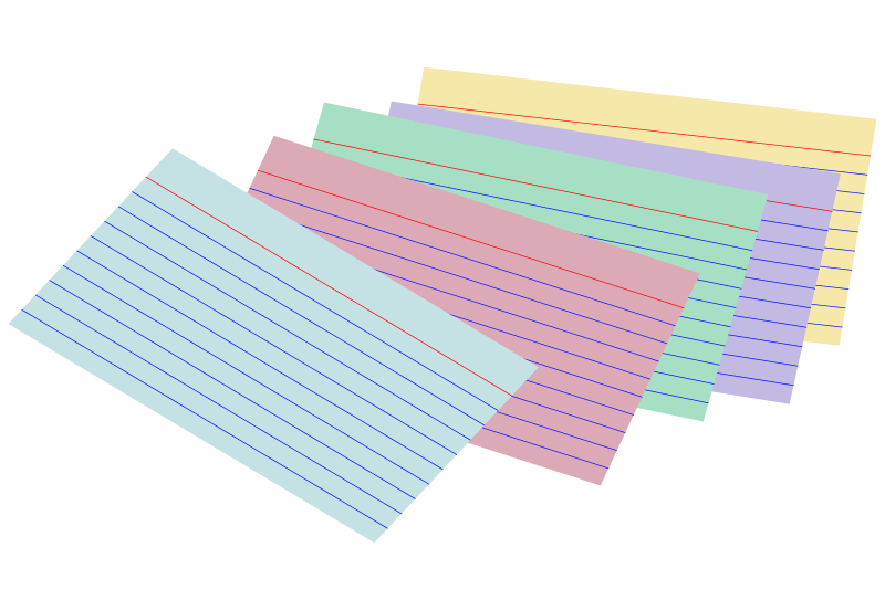 Stack Of Colored Index Cards By Snifty   A Stack Of Colorful Index