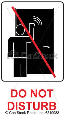 Vectors Of Do Not Disturb   Vector Icon Csp6319983   Search Clip Art
