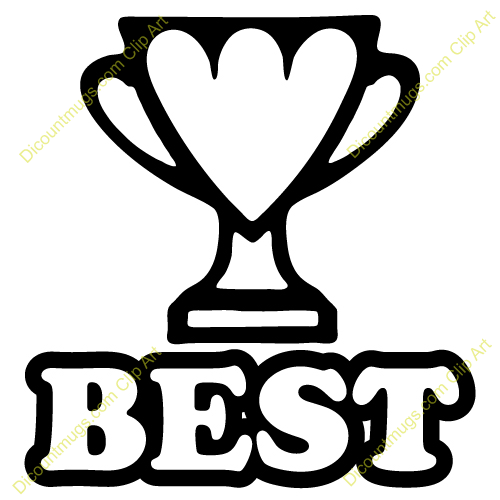 Clipart 12407 Best Trophy   Best Trophy Mugs T Shirts Picture Mouse