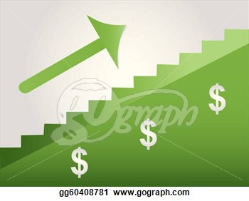Clipart   Steps To Success In Green With White Background  Stock