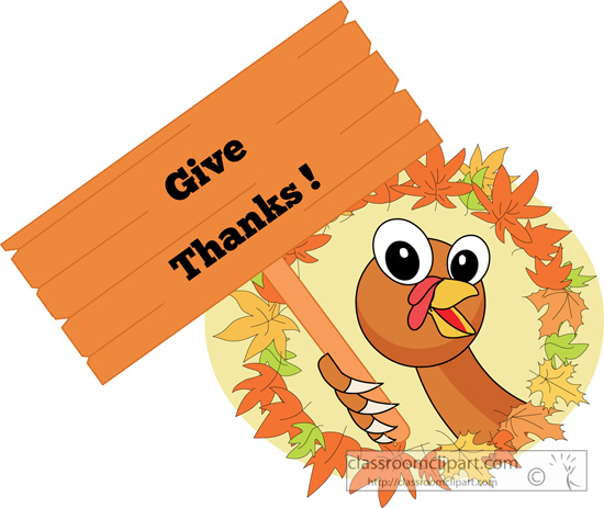 Clipart   Thanksgiving Give Thanks 10a   Classroom Clipart