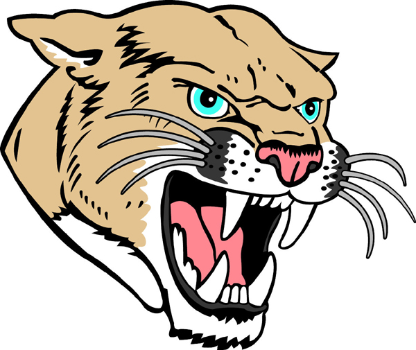 Cougar Mascot Full Color Sports Sticker  Customize On Line  Cougar