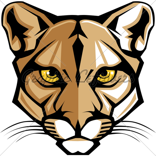 Cougar Panther Mascot Head Graphic   Gl Stock Images
