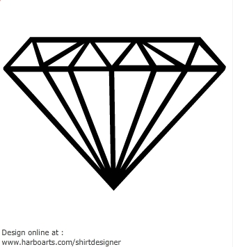 Diamond Outline Clip Art