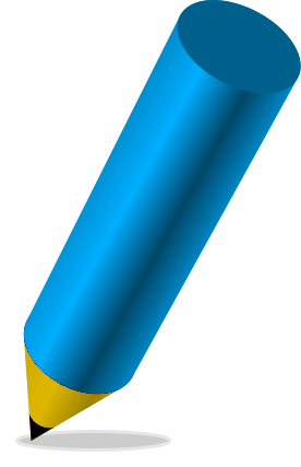 Free Clipart Of Colored Pencil Clipart Of A Stubby Blue Colored