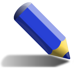 Free Clipart Of Colored Pencil Clipart Of A Stubby Blue Coloring