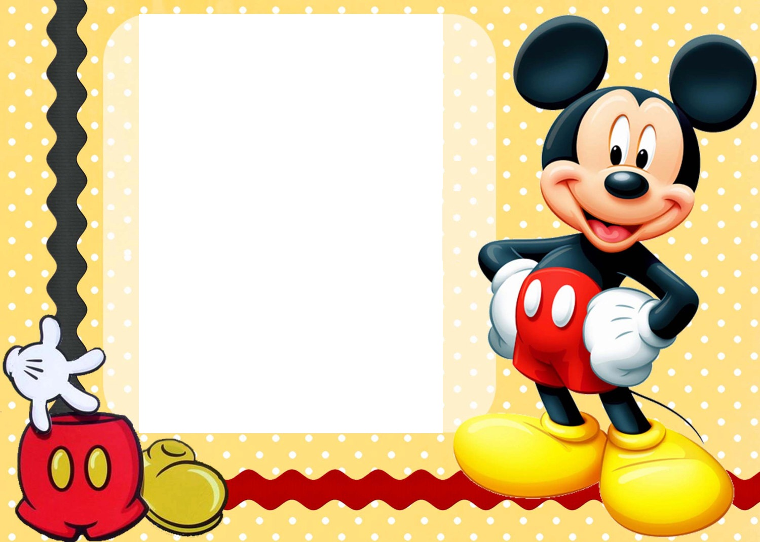 Mickey Mouse Birthday Borders Clipart Kid