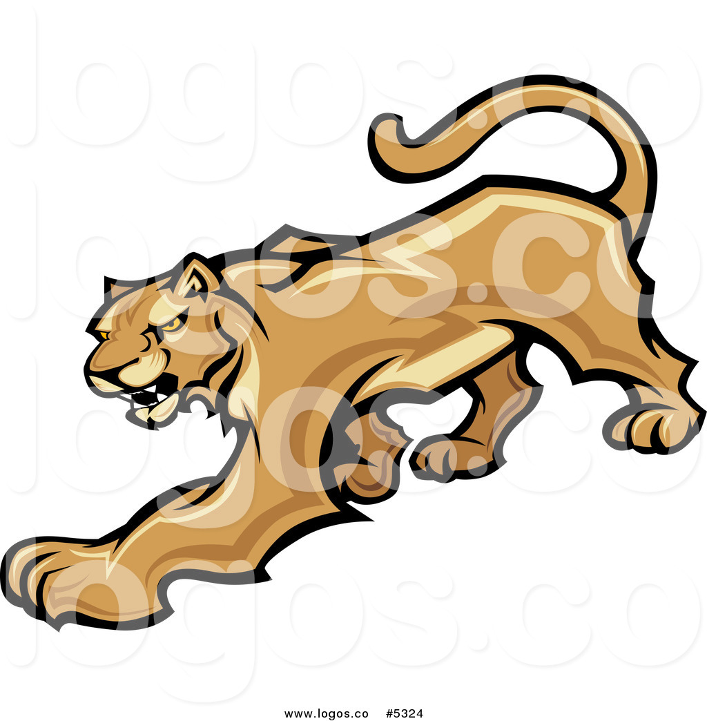 Free Vector Of A Logo Of A Prowling Cougar Mascot By Chromaco    5324