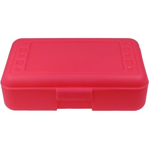 Plastic Pencil Box   Pink   Organization Store