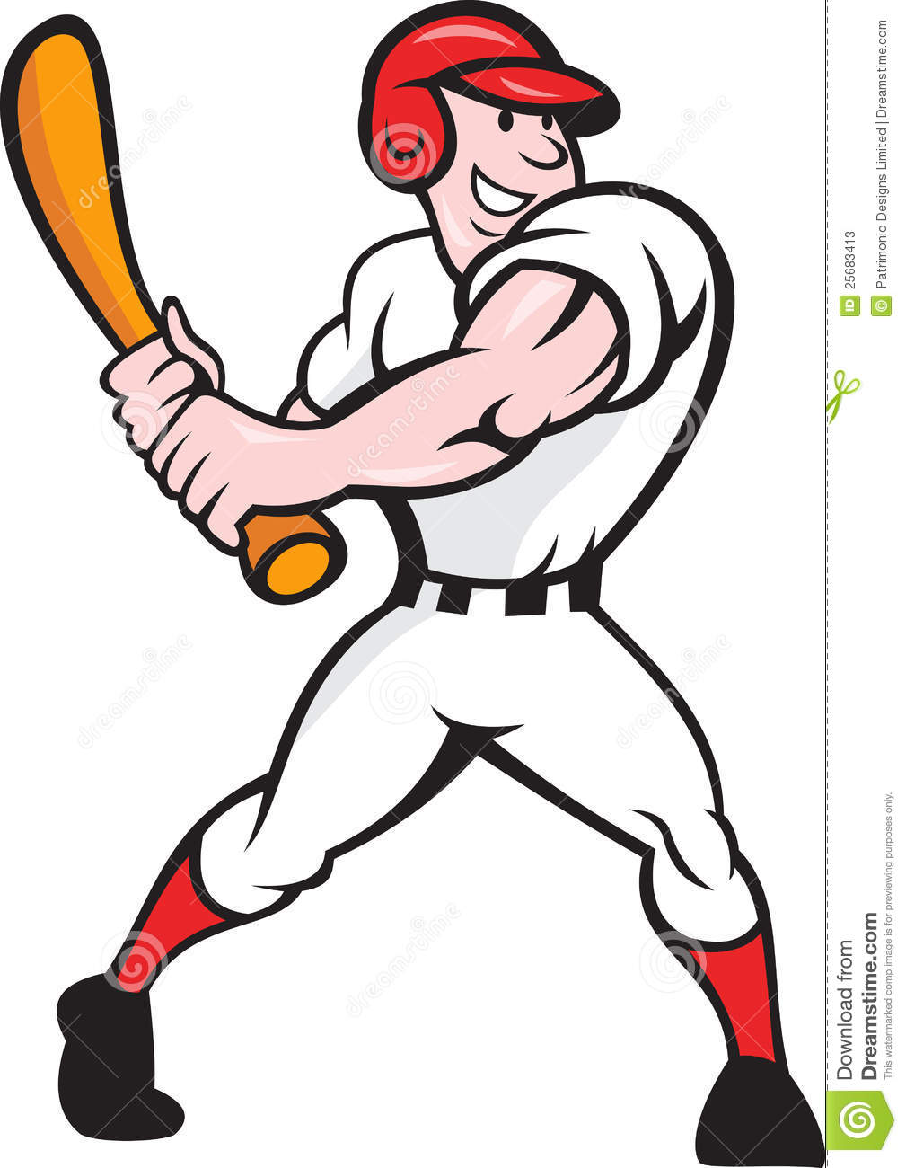 free clipart of a baseball player - photo #42
