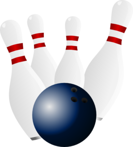 Bowling Ball And Pins Clip Art At Clker Com   Vector Clip Art Online