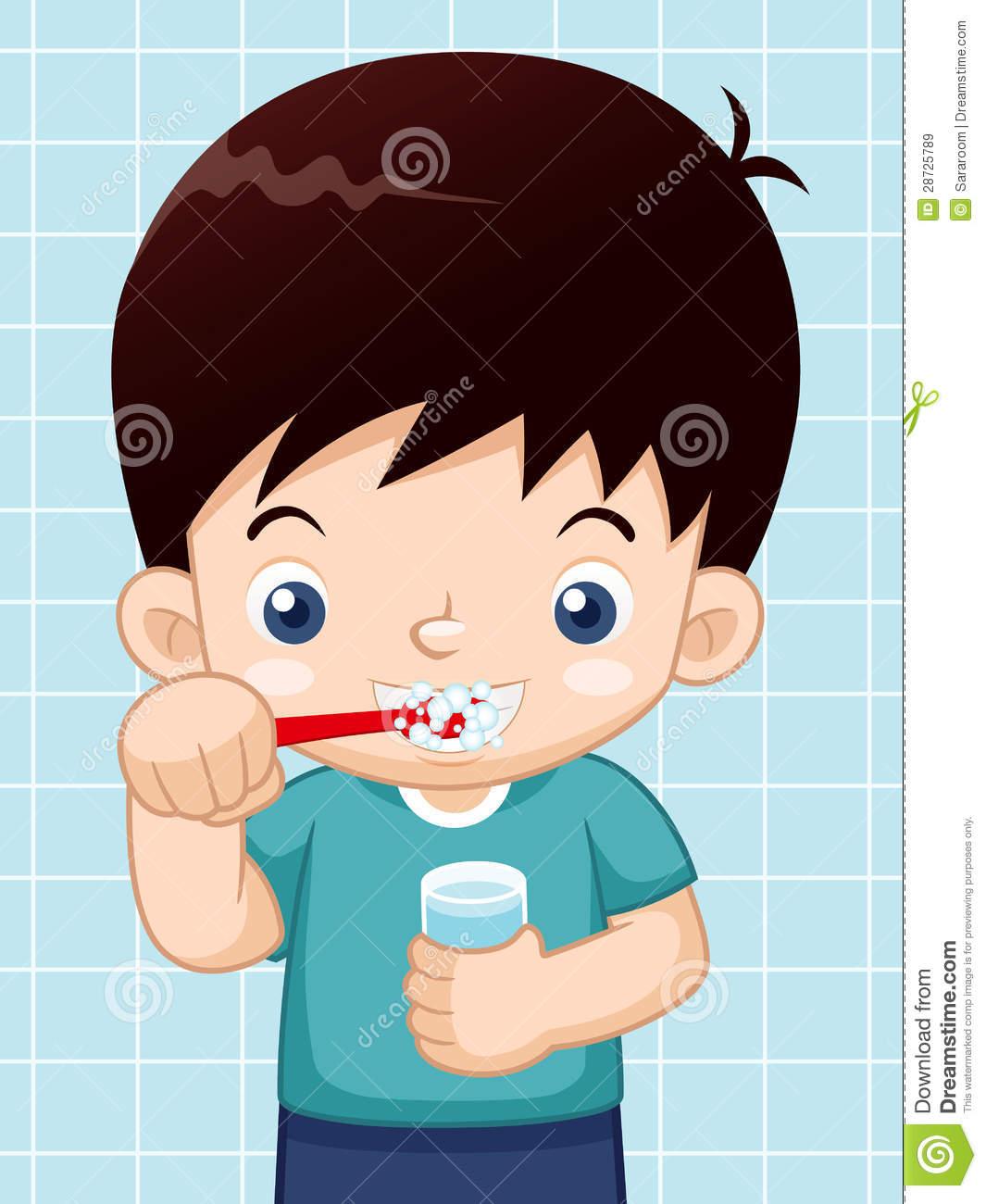 Boy Brushing Teeth Clipart - Clipart Kid