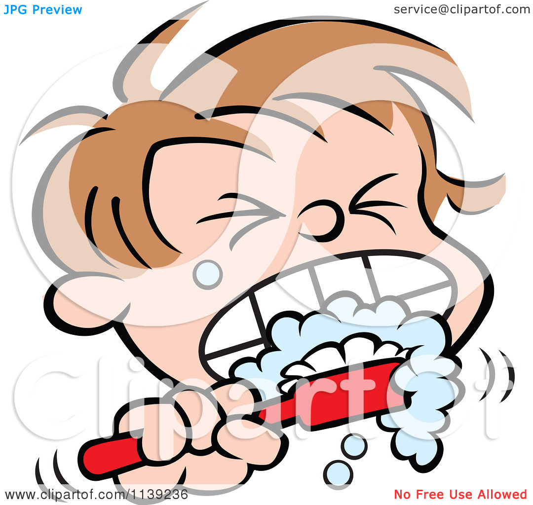 Boy Brushing Teeth Clipart - Clipart Suggest