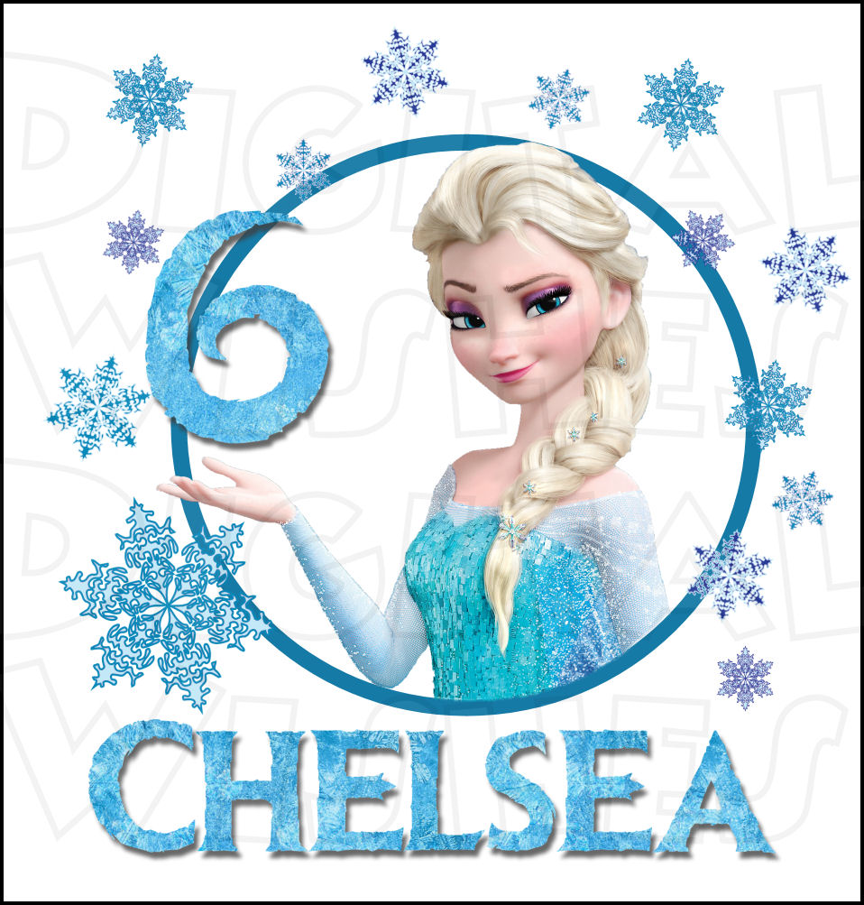 Elsa Birthday Personalized Any Name And Number Custom Digital Clip Art