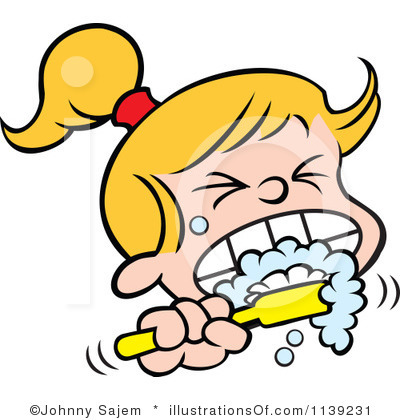 Girl Brushing Teeth Clipart   Clipart Panda   Free Clipart Images