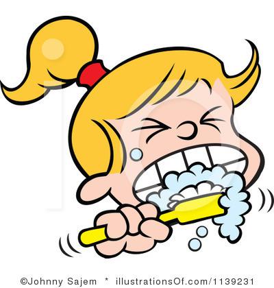 Clip Art Brushing Teeth Clipart brush your teeth clipart kid girl brushing panda free images