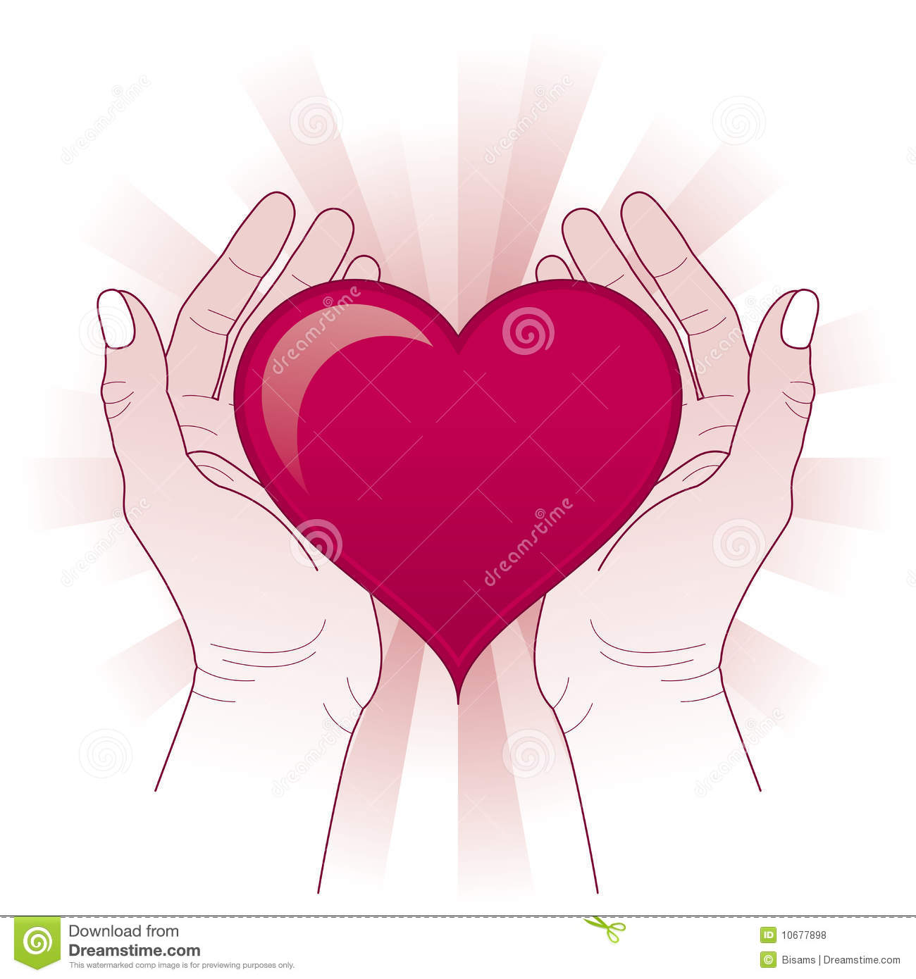 Hands Protecting The Heart  Heart In Hands Concept
