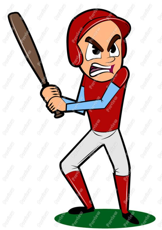 Clip Art Baseball Player Cartoon baseball player clipart - clipart kid