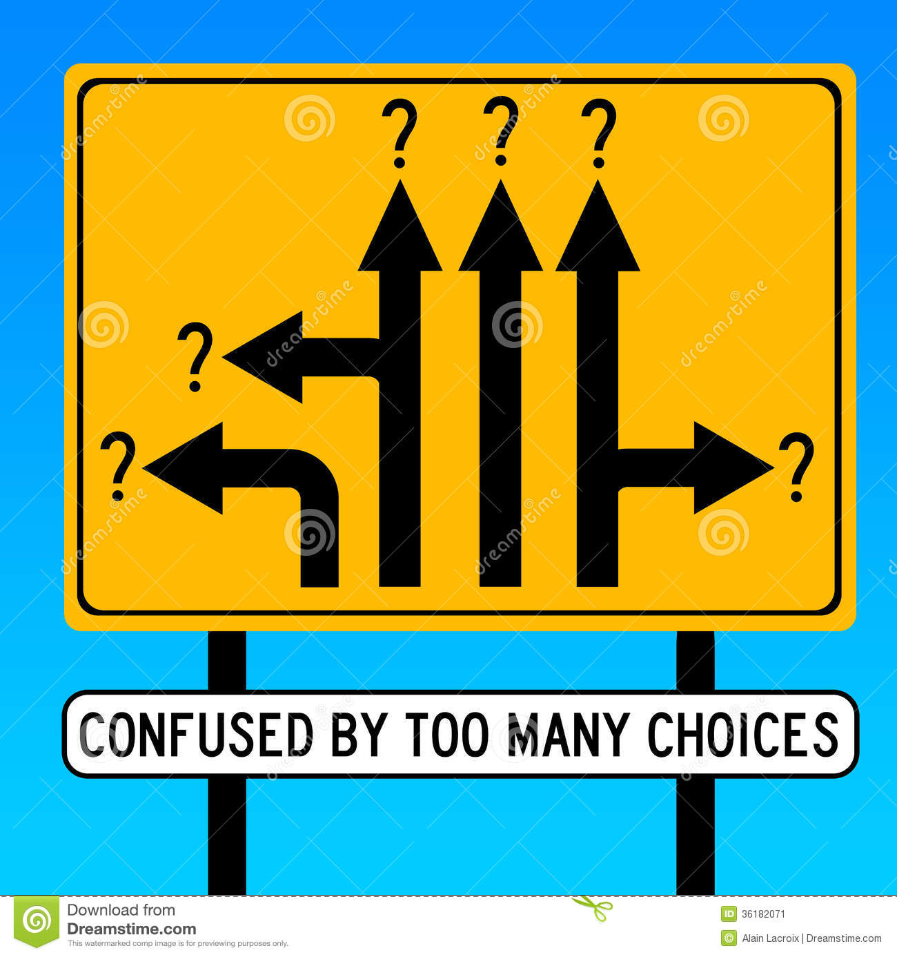 Make Smart Choices Clipart Confused By Choices Stock