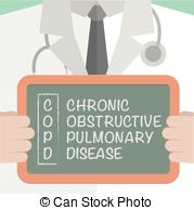 Medical Board Copd Vector Clip Art